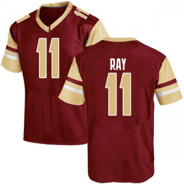 Men's Wyatt Ray Boston College Eagles Under Armour Game Maroon Team Color College Jersey