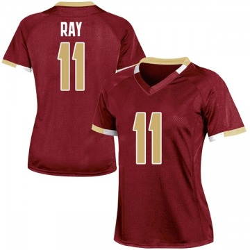 Women's Wyatt Ray Boston College Eagles Under Armour Game Maroon Team Color College Jersey